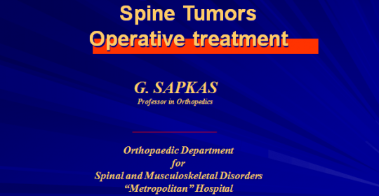 Malignant Cervical Spine TumorsOperative treatment